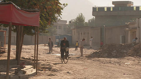 Pedestrians on street in Kabul, Afghanistan Footage