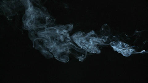 White smoke is released into the air Stock Video Footage
