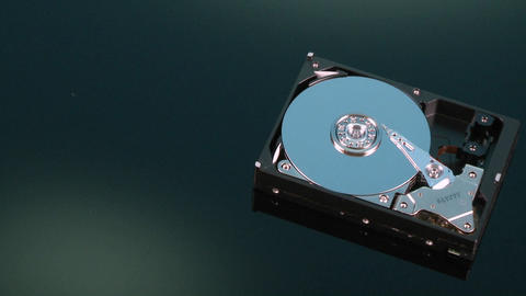 A closeup zoom image of a hard drive for a computer is... Stock Video Footage