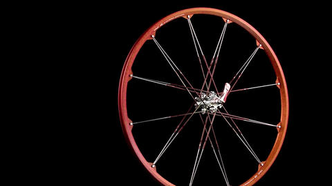 A wheel with spokes revolves Stock Video Footage