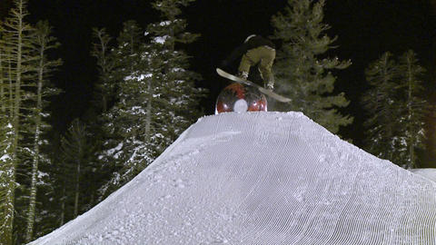 A man rides a snowboard Stock Video Footage