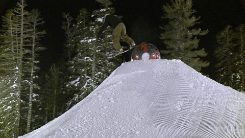 A man rides a snowboard Footage