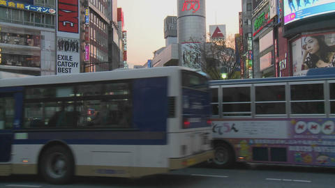 Pedestrian crossing during rush hour near Shibuya... Stock Video Footage