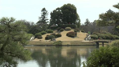 Koraku-en park during sakura, or cherry blossom season,... Stock Video Footage