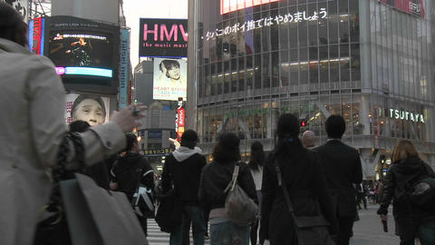 Time lapse during rush hour in Shibuya, Tokyo, Japan Stock Video Footage