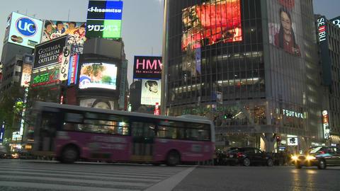 Traffic in Shibuya, Tokyo, Japan Stock Video Footage