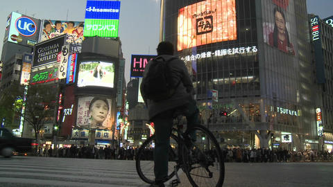 Traffic in Shibuya, Tokyo, Japan Footage