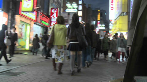 Time lapse of rush hour traffic and pedestrians in... Stock Video Footage