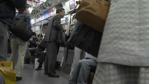 Time lapse on the Tokyo subway system, Japan Stock Video Footage