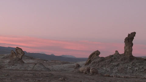 Time lapse of sunset in the Valley of the Moon near San... Stock Video Footage
