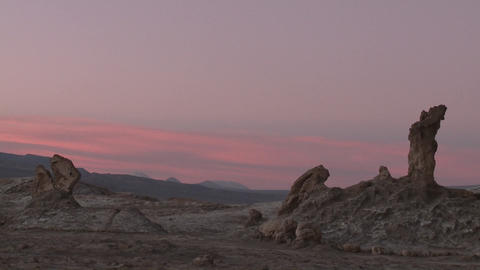Time Lapse Of Sunset In The Valley Of The Moon Near San Pedro De Atacama, Chile stock footage