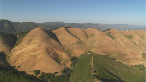 Helicopter aerial of the hills north of the Santa Maria Valley, California Footage