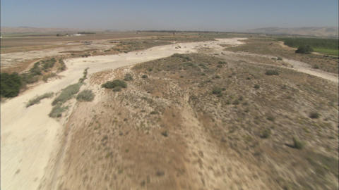 A low level helicopter aerial of the Rio Seco River in... Stock Video Footage