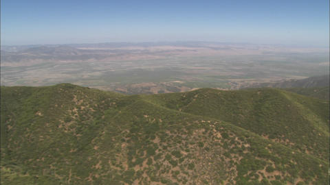 A helicopter aerial of the Salinas Valley, California Stock Video Footage