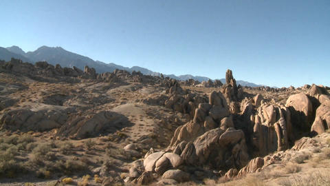 Pan across the granite rock formations of the Alabama... Stock Video Footage