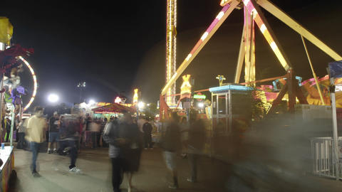 Guests enjoy a carnival Stock Video Footage