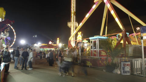 Guests enjoy a carnival Footage