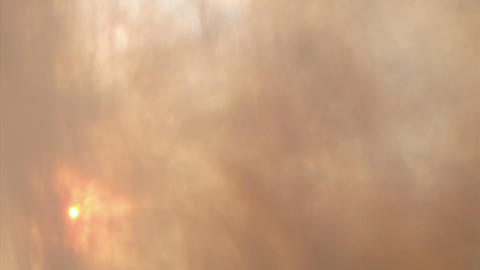 Blowing smoke obscures sunlight Stock Video Footage