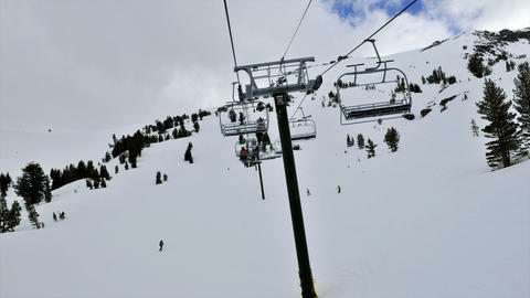 POV on a chairlift in time lapse Footage