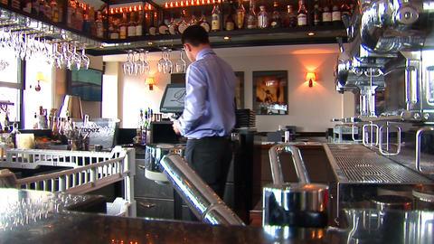 barman Stock Video Footage