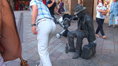 living statue Stock Video Footage