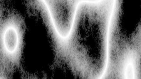 Looping animations of a white and black amorphous or... Stock Video Footage