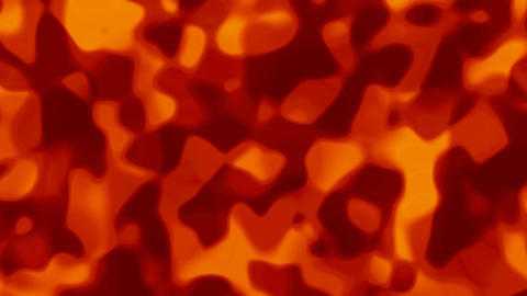 Looping animations of a red and orange liquid camouflage like pattern Animation