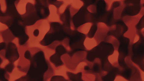 Looping animations of an orange and black liquid... Stock Video Footage
