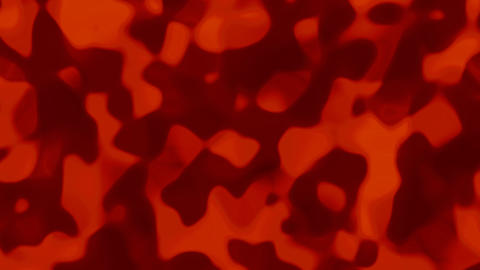 Looping animations of a bright orange and dark orange liquid camouflage like pattern Animation