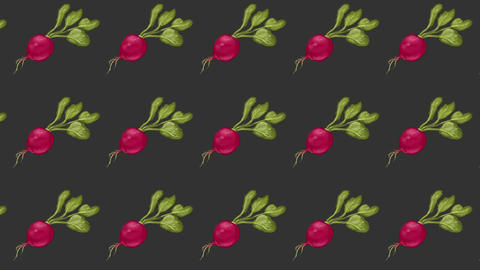 radish pattern, ideal footage for themes such as recipes and cooking, loop animation for backgrounds Videos animados