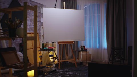 Art studio with nobody in Live Action