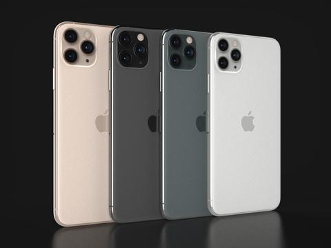 Apple IPhone 11 Pro Max In All Official Colors 3D Model