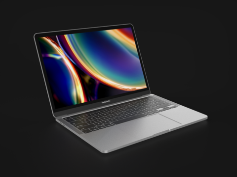 MacBook Pro 2020 13 inch In All Official Colors 3D Model