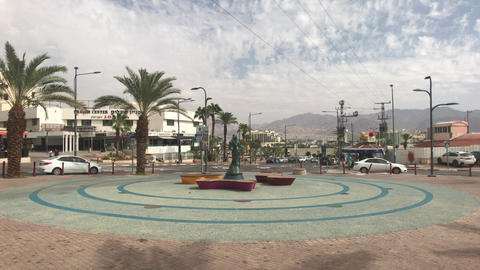 Eilat, Israel - transport moves through the streets of the resort town part 10 Live Action