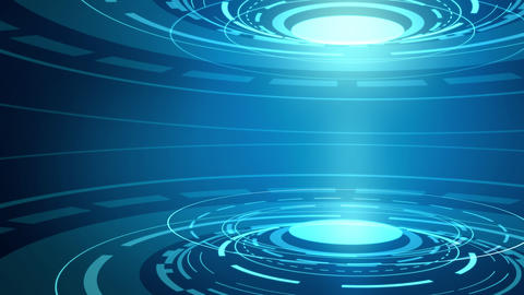 Abstract hi-tech animated background. Loop Animation