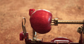 Apple peel and core machine for pie DCI 4K 705 Footage