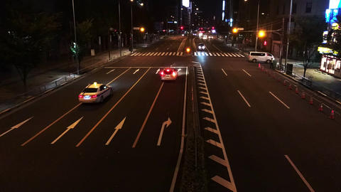 4K time-lapse video of the national highway in tokyo Japan Footage
