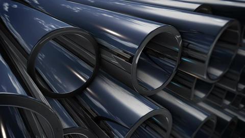 Steel tubes Animation
