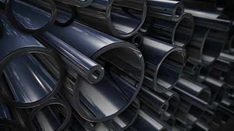 stack of steel tubing Animation