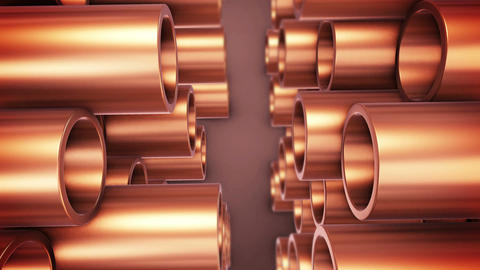 Polished copper pipes Animation