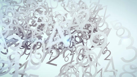 Abstract animation with numbers Stock Video Footage