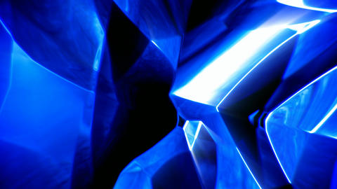 Blue abstract shiny glass background seamless loop Animation