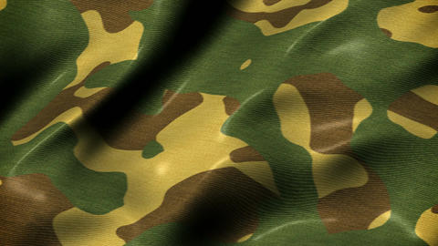 Slow waving camouflage fabric motion background seamless loop Animation