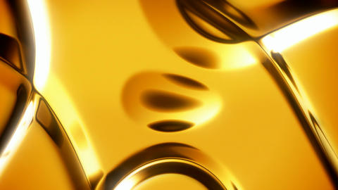 Gold abstract background with soft folds seamless loop Animation