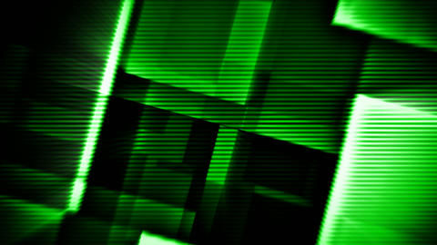 Green glowing squares hi-tech abstract motion background seamless loop Animation