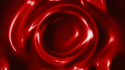 Red slow swirling liquid abstract motion background Animation