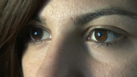 Close-up of woman's eyes Footage