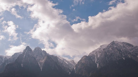 4k Timelapse Clouds over Mountains Footage