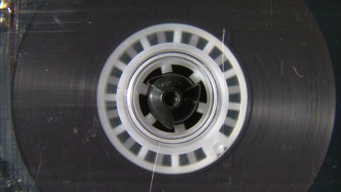 Audio cassette reel playing Footage