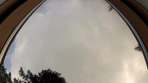 Raindrops falling on window Footage